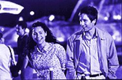 Aorta be a law: Minnie Driver and David Duchovny in Return to Me.
