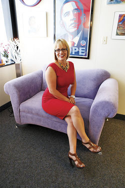 "Another Arizona politicians who's been ""out"" in office is Democratic state legislator Kyrsten Sinema."