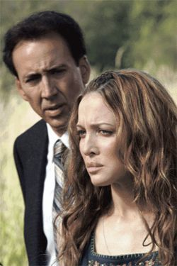 Something Wicker this way comes: Nicolas Cage (with Kate Beahan) is a befuddled detective in The Wicker Man.