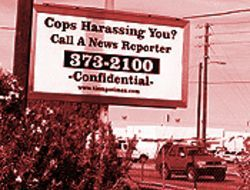 Billboards like this one appeared in Yuma County from October to December, soliciting information on law enforcement.