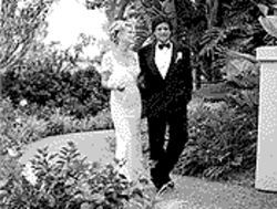 Heather and John Grossman, on their wedding day.
