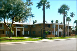 Just one of the many buildings in the colossal Park Lee apartment complex in Phoenix. Did Ralph Haver design these?