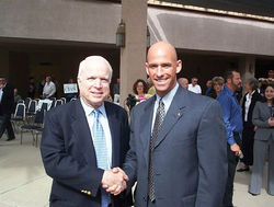 Babeu with U.S. Senator John McCain.
