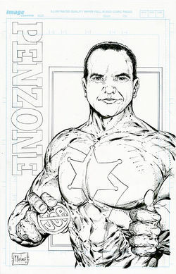 Spawn creator Todd McFarlane&#039;s vision of Penzone as an Arpaio-crushin&#039; superhero.