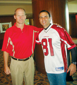 Arizona Cardinals head coach Ken Whisenhut and Penzone