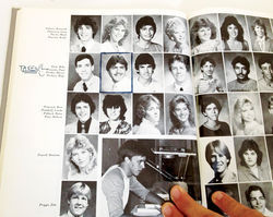 Penzone (second row, middle photo) in his senior photo from the 1985 Cortez High School yearbook.