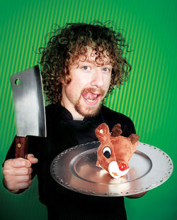 First the Easter Bunny, now Rudolph the Red-Nosed Reindeer. Chef Payton Curry puts a shocking spin on holiday dining.