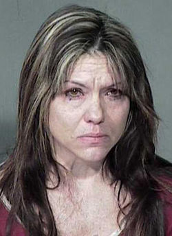 Lisa Randall&#039;s mug shot after her November 2007 arrest.