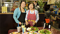 Family style: Owners Avina Pham (left) and her mother Thanh Nguyen keep customers well-fed at Pho Avina.