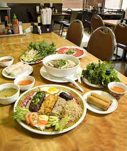 From broken rice to pho to spring rolls, it's fun to eat your way through the tasty Vietnamese menu at Pho Thanh.