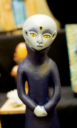 Extraterrestrial ceramics for sale at the International UFO Congress.