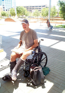 Russ Jefferson was wheelchair-bound when Project H3 came into his life.
