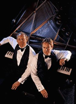 Piano men: Mark Anders and Carl J. Danielsen -- two fellows who can play comedy as well as a note-perfect performance.