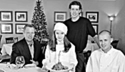 Xmas gift: The Nix team, from left, co-owner Stephen Johnson, daughter Nikita, co-owner Geof Gorman, and chef John Ramagli.