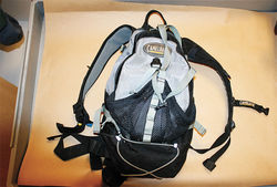 Puroll claimed that he wasn't wearing this backpack during the shootout, which explained the lack of damage to it from the bullet that struck him.