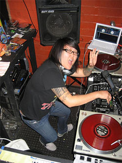 DJ Sneaky School is just one of many guest turntablists who rock E-Lounge during Platform Wednesdays.