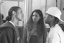 Bust a move: Dreux Frederic, Jennifer Freeman and Omari Grandberry do a little dance in You Got Served.