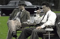 Kingfish for a day: Sean Penn (right, with Jude Law) plays a Huey Long-type politician in All the King's Men.