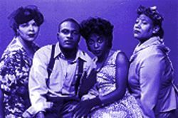 The cast, from left: Elizabeth Brown-Gray, Zee Grigsby, Toni Robinson and Rico Burton.