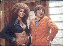 Mojo rising: Beyoncé Knowles and Mike Myers get their mack on, old school, in Goldmember.