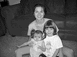 Anita Robinson with her daughters Maya (left) and Adriana at their home in Surprise, September 10, 2002.
