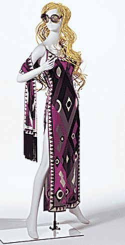 Dress and Scarf, Emilio Pucci, 1970s. Printed silk jersey. Lent by Mrs. Lisa Perry.