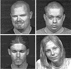 Clockwise, from top left: Patrick Bearup, Sean Gaines, Jessica Nelson and Jeremy Johnson