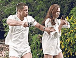 If looks could kill: Angelina Jolie and Brad Pitt are assassins out to extinguish each other in Mr. & Mrs. Smith.