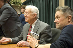 Quiet desperation: Jimmy Carter and Jonathan Demme in the infomercial-esque Jimmy Carter Man From Plains.