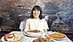 Her majesty&#039;s board: Chef Vanna Vorachitti with a ton of tempting Thai treats.