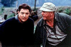 Greene piece: Brendan Fraser and Michael Caine are at odds with each other in The Quiet American.
