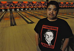 Ace bowler Jason Tunay in one of his fave tees.