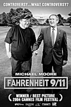 The ultra-popular Fahrenheit 9/11's filled with  simple-minded, clenched-fist rhetoric.