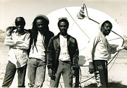 Jamaican reggae band Culture visited the Hopi Reservation in about 1989.