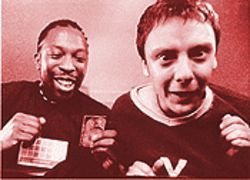 Gen Ecstacy: Shaun Parkes (left) and John Simm in Human Traffic