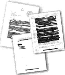 Copies of letters released by Child Protective Services - with redactions.