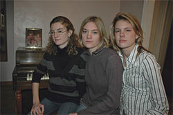 Left to right, the Lamberton girls: Jessica, 23; Melissa, 20; and Kasondra, 22.