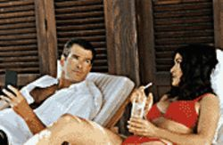 Sunset stripped: Pierce Brosnan and Salma Hayek are  glamorous jewel thieves in After the Sunset.