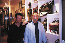 The writer (left) with keyboard great Joe Zawinul in New York City in 2001.