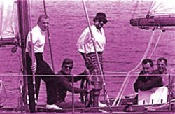 Yachting with JFK -- one of the doctored pics in Pollack's book.