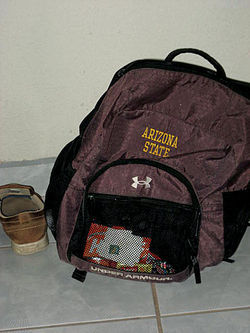 Vasquez's ASU backpack.