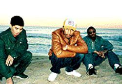 "From left, Chad Hugo, Pharrell Williams and Sheldon ""Shay"" Haley are N*E*R*Ds."