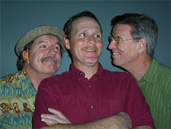 Ross Collins, Jack Dwyer, and Peter J. Hill in Tom, Dick, and Harry.