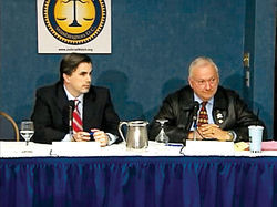 Judicial Watch President Tom Fitton (left) plays host to Arizona state Senate President-elect Russell Pearce in D.C.
