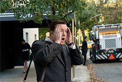 That's irritainment: Ricky Gervais plays a dentist who sees the phantasms of Manhattan in Ghost Town.