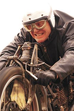 Speed demon: Anthony Hopkins stars alongside a  motorcycle in The World's Fastest Indian.