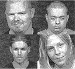 Clockwise, from top left: Patrick Bearup, Sean Gaines, Jessica Nelson and Jeremy Johnson.
