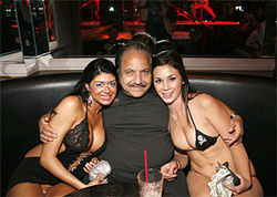 Ron Jeremy mingles with dancers at Pink . . .