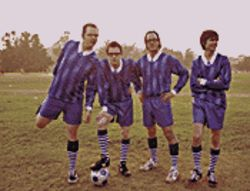 Team Weezer: From left, Pat Wilson, Rivers Cuomo, Scott Shriner and Brian Bell.