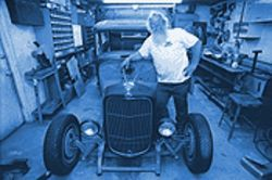 Don Marks' work in progress, a '32 Ford sedan.